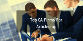 Top CA Firms For Articleship