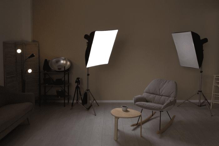 Contemporary photography studio.
